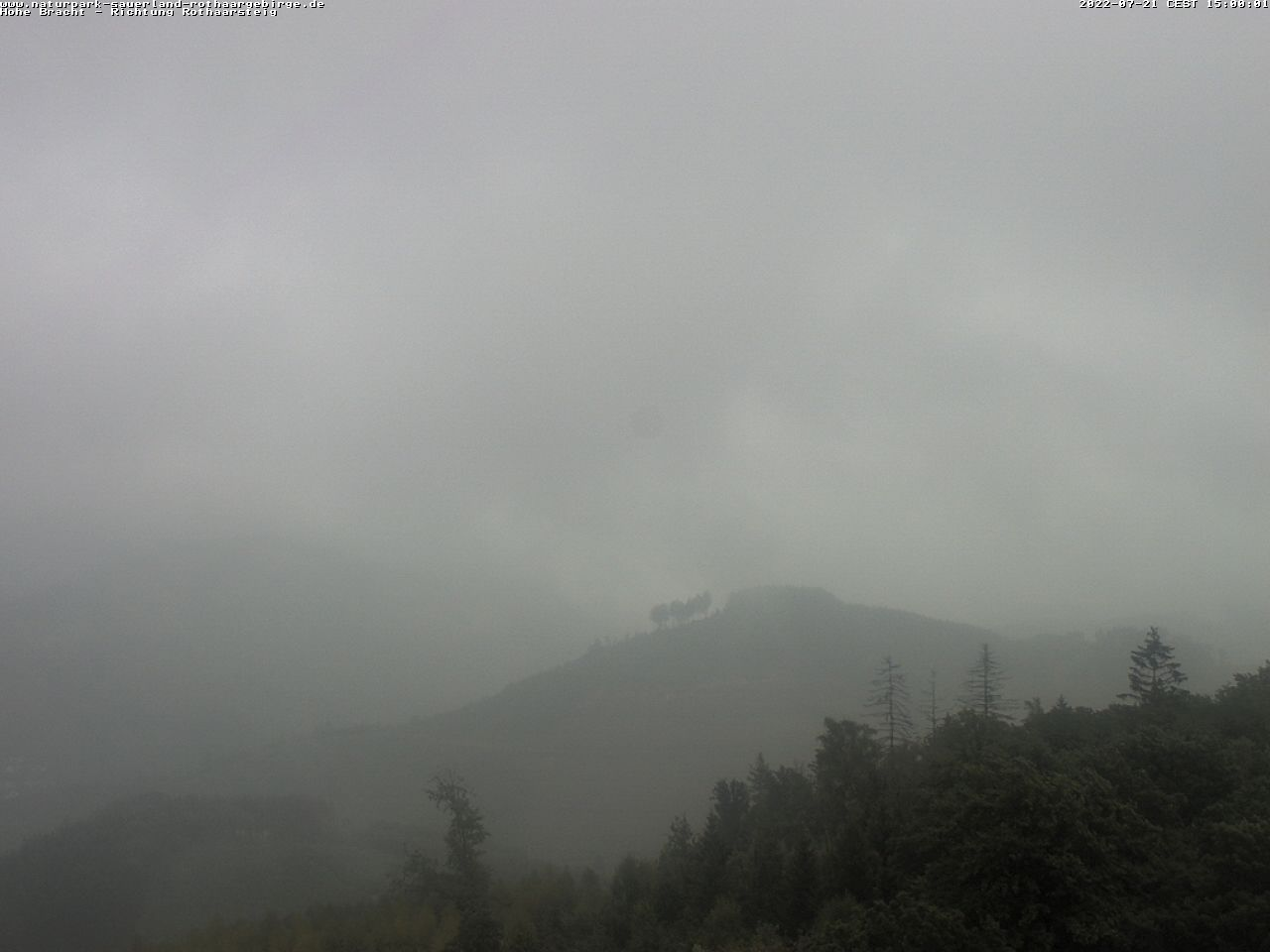 Webcam Hohe Bracht - Blickrichtung Rothaargebirge